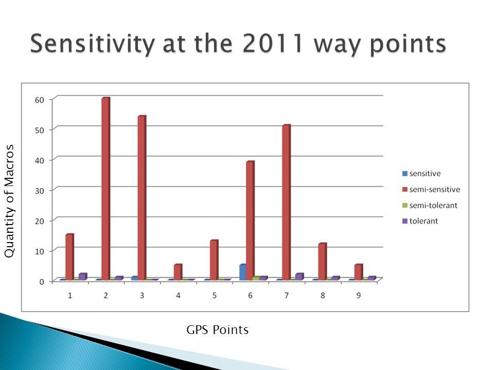 GPS Points Quantity of Macros