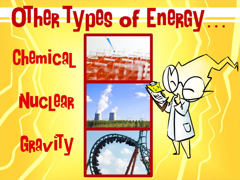 Chemical Nuclear Gravity Other types of Energy…