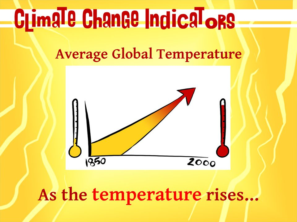 Climate Change Indicators Average Global Temperature As the temperature rises…