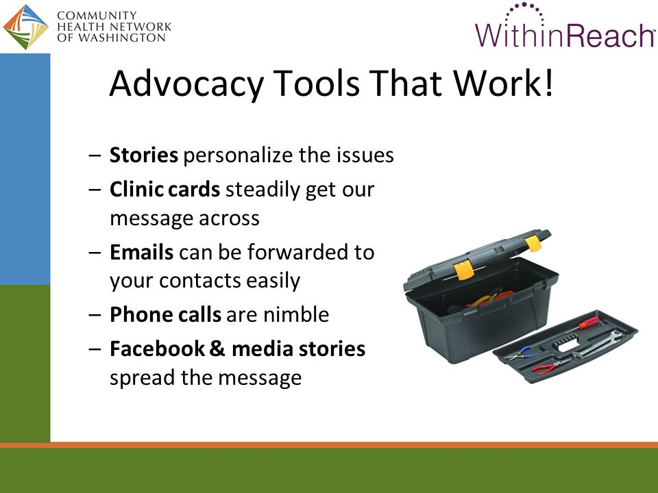 Advocacy Tools That Work.