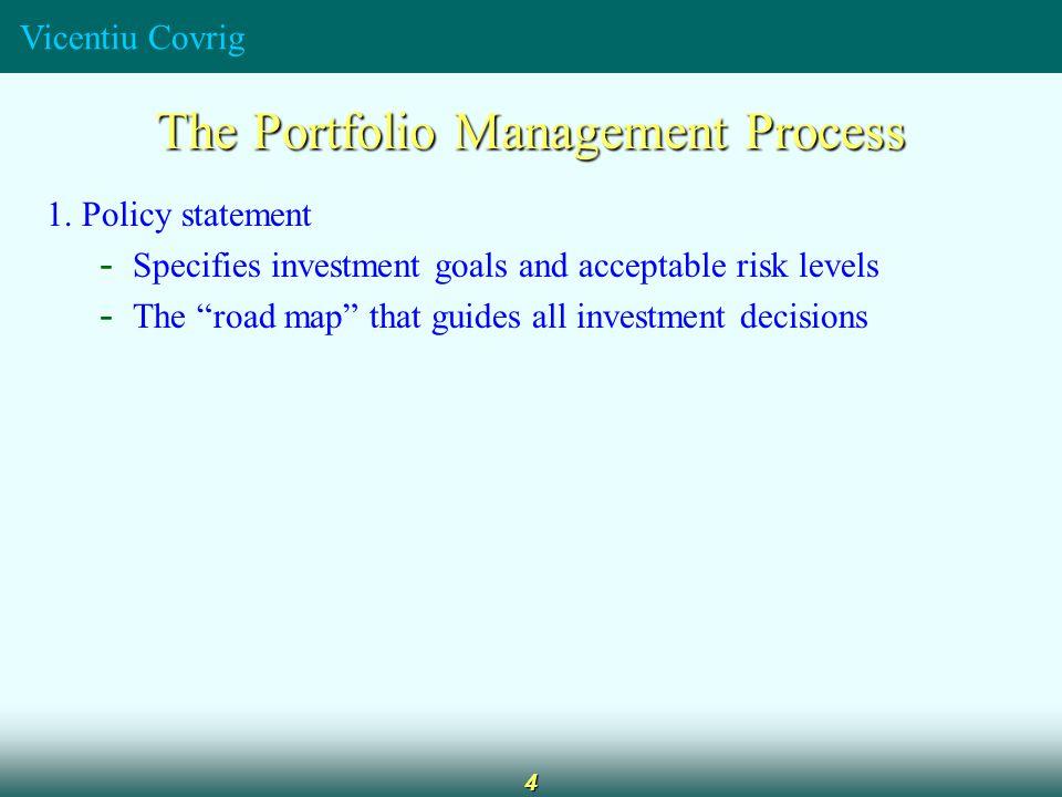 Vicentiu Covrig 4 The Portfolio Management Process 1.