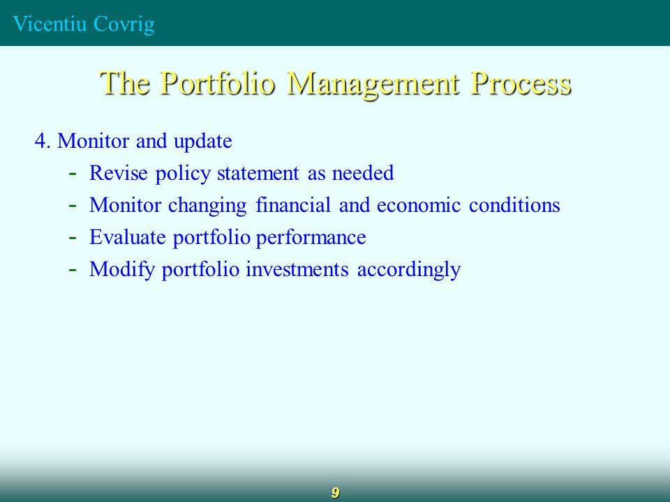 Vicentiu Covrig 9 The Portfolio Management Process 4.