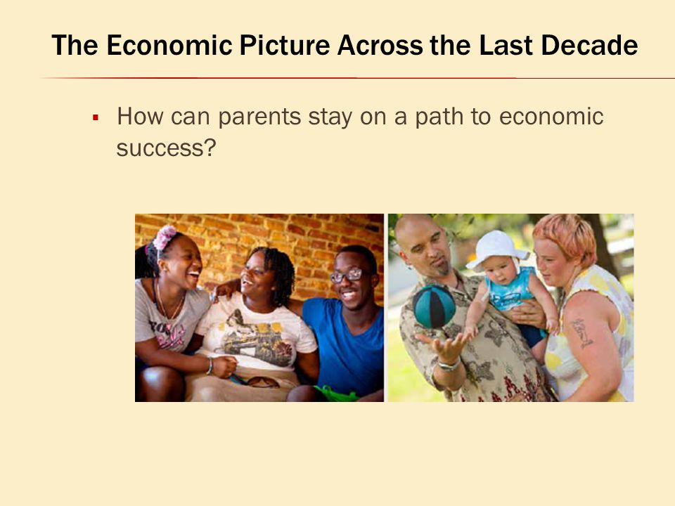  How can parents stay on a path to economic success? The Economic Picture Across the Last Decade