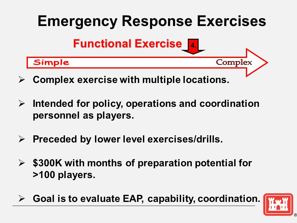  Complex exercise with multiple locations.