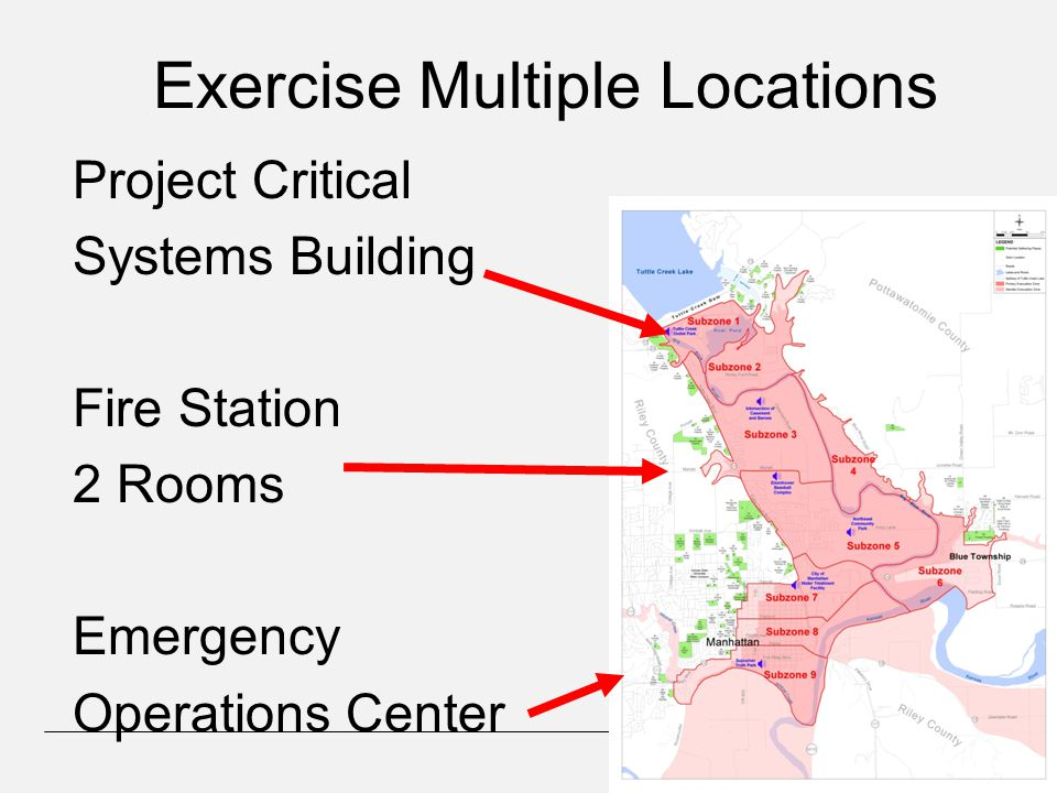 Exercise Multiple Locations Project Critical Systems Building Fire Station 2 Rooms Emergency Operations Center