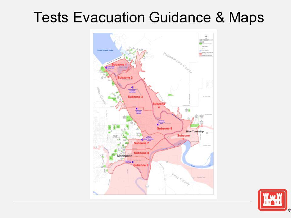 Tests Evacuation Guidance & Maps
