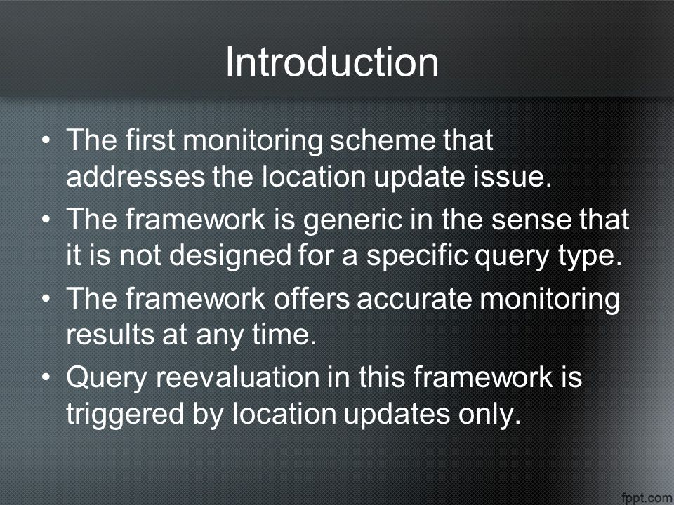 The first monitoring scheme that addresses the location update issue.