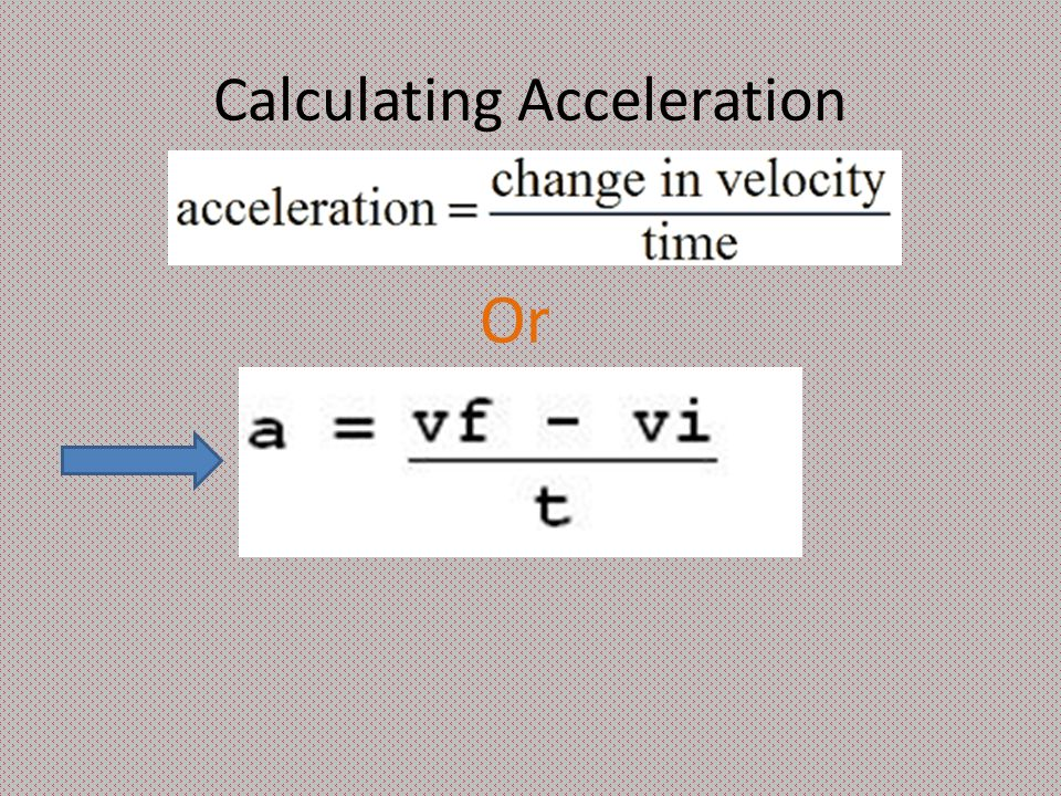 Calculating Acceleration Or