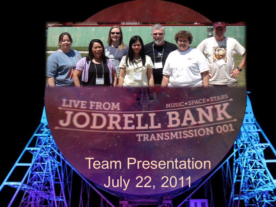 Team Presentation July 22, 2011
