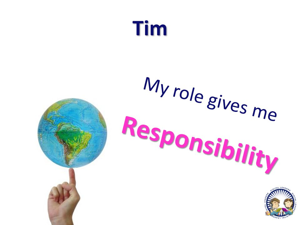Tim My role gives meResponsibility