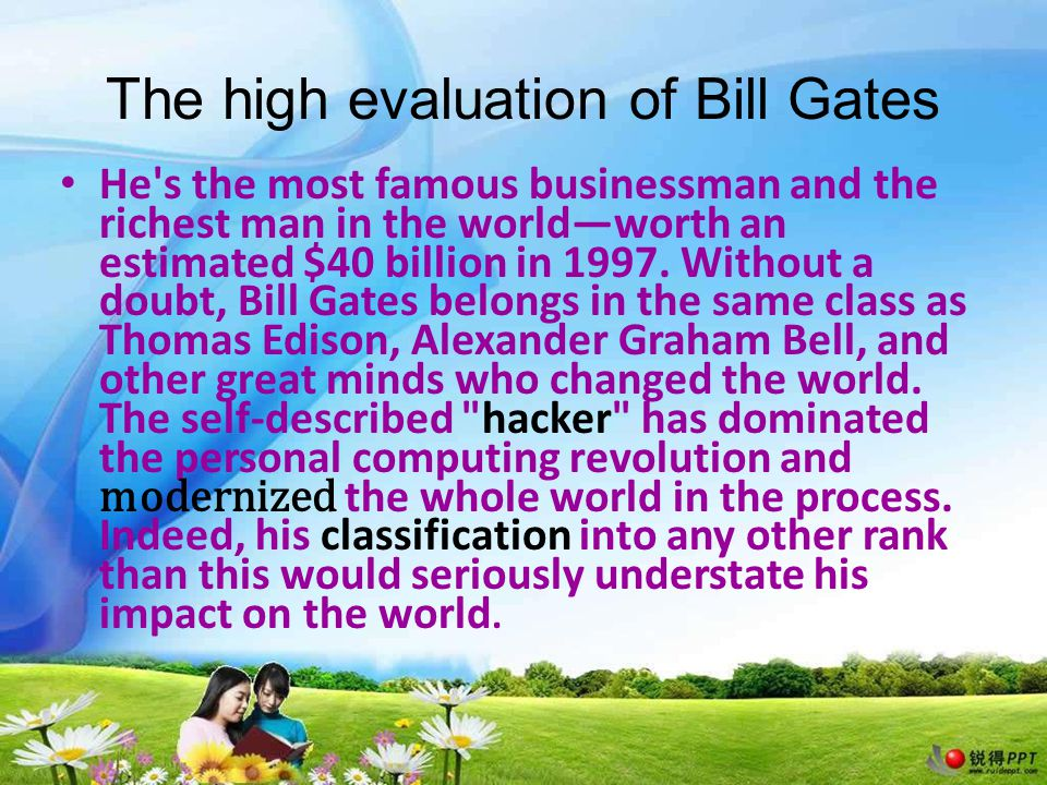 The factors of Bill Gates's success 1 Gates success stems from his personality: an unbelievable and at times frightening blend of high-voltage brilliance, drive and competitiveness.