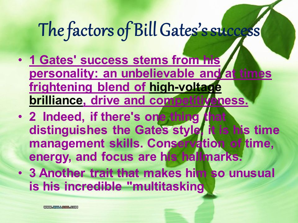How does he run his company Gates runs his company mainly through three methods He bats out a hundred or more e-mail messages a day (and night) He meets every month or so with his top management panel of experts and advisers Most importantly, he holds two or three small review meetings a day with a procession of teams working on the company s various products.