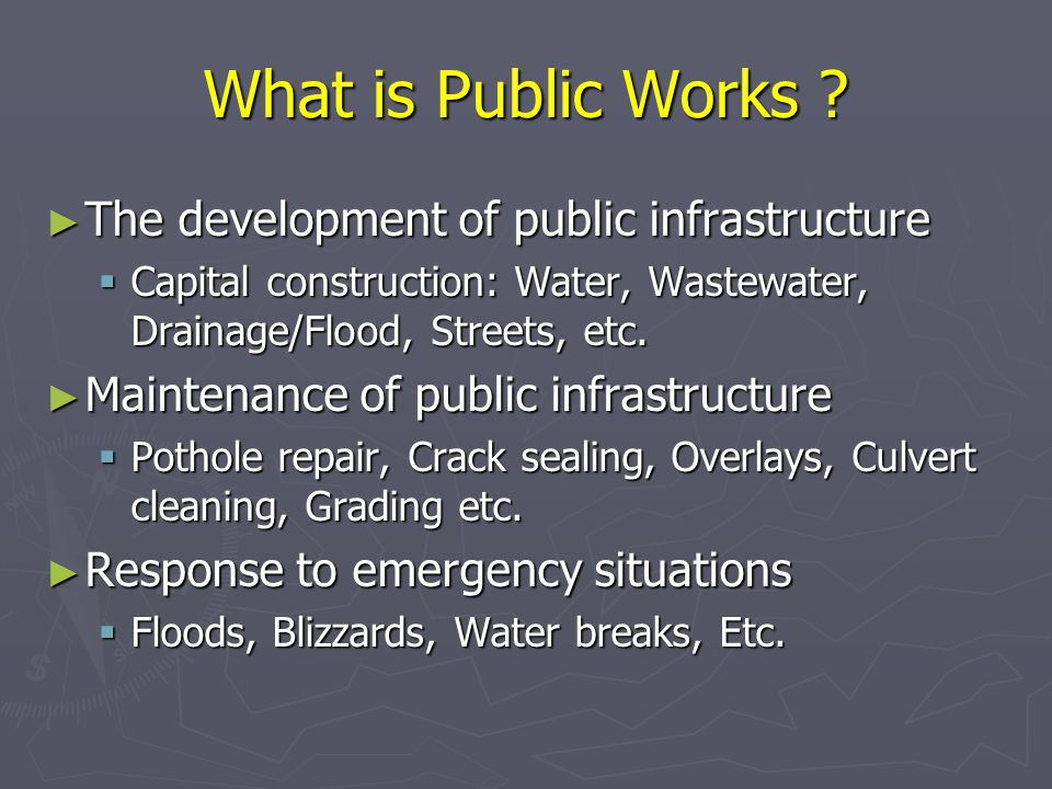 What is Public Works .