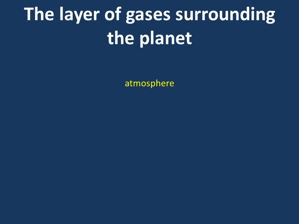 The layer of gases surrounding the planet atmosphere