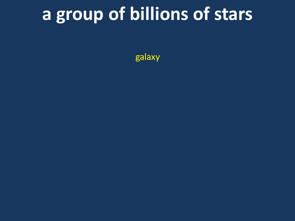 a group of billions of stars galaxy