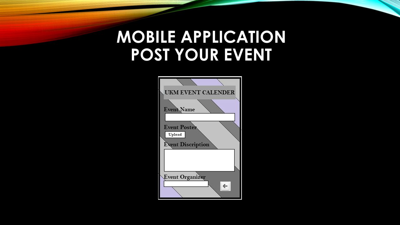 MOBILE APPLICATION POST YOUR EVENT