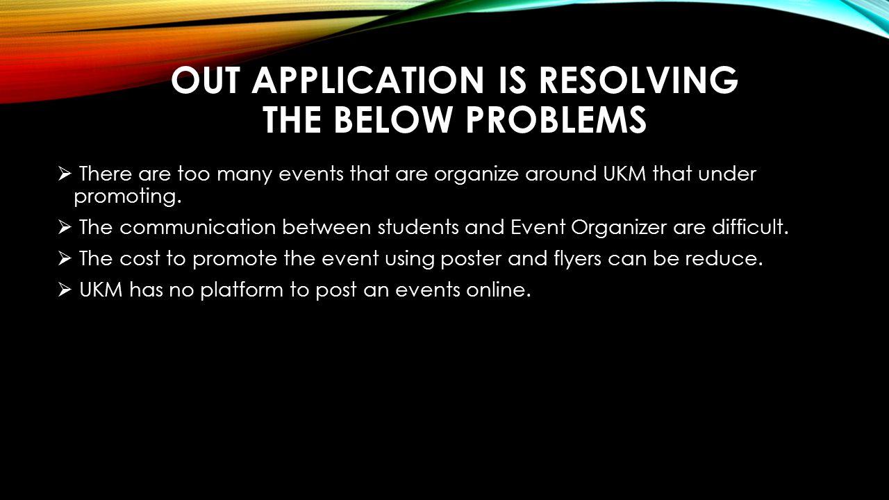 MOBILE APPLICATION EVENT DESCRIPTION