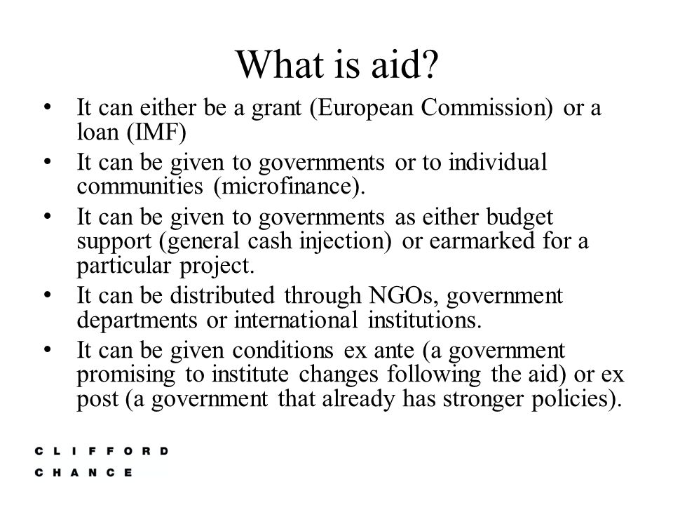 What is aid.