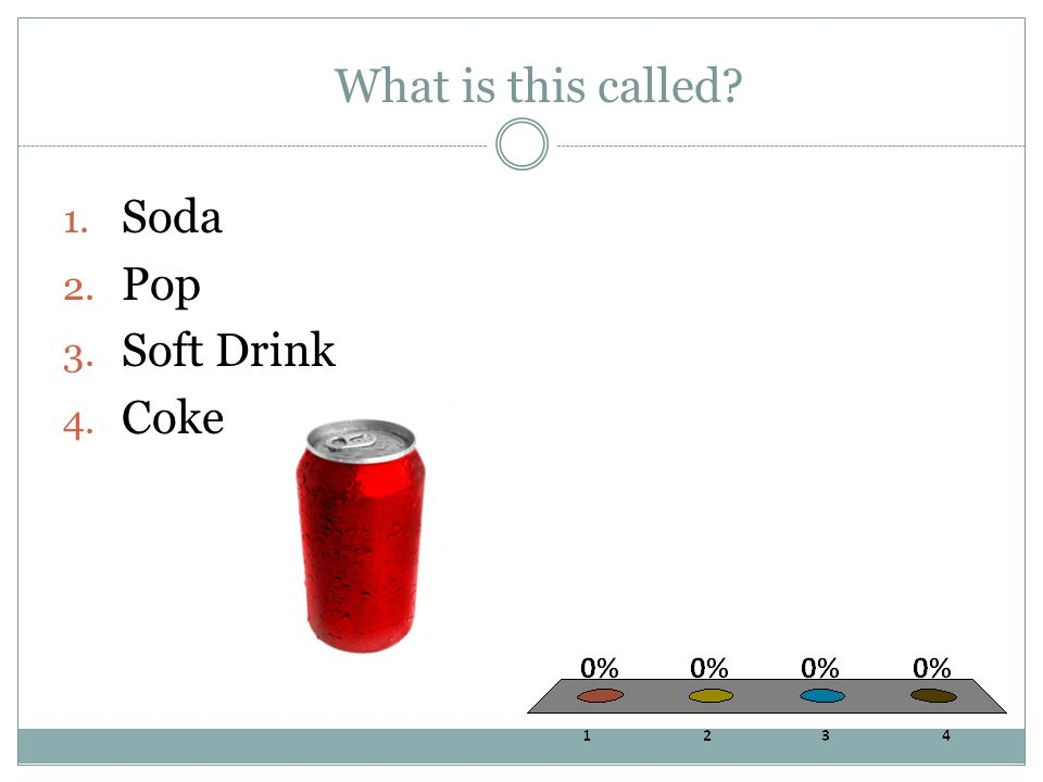 What is this called 1. Soda 2. Pop 3. Soft Drink 4. Coke