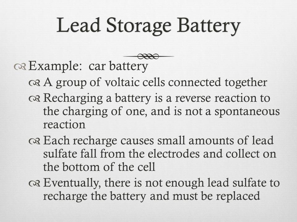 Lead Storage BatteryLead Storage Battery