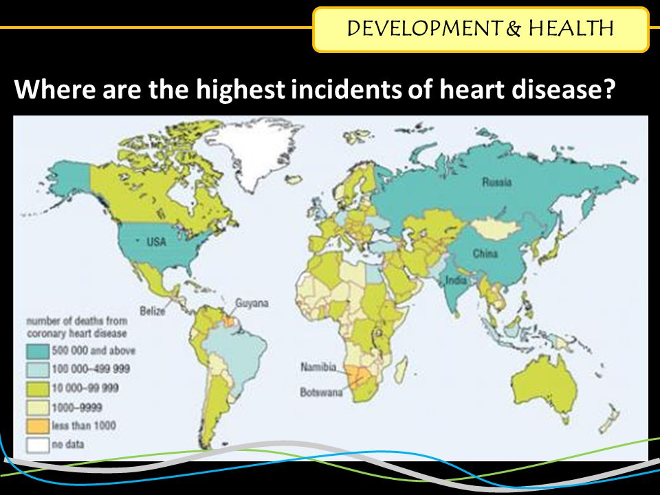 DEVELOPMENT & HEALTH Where are the highest incidents of heart disease