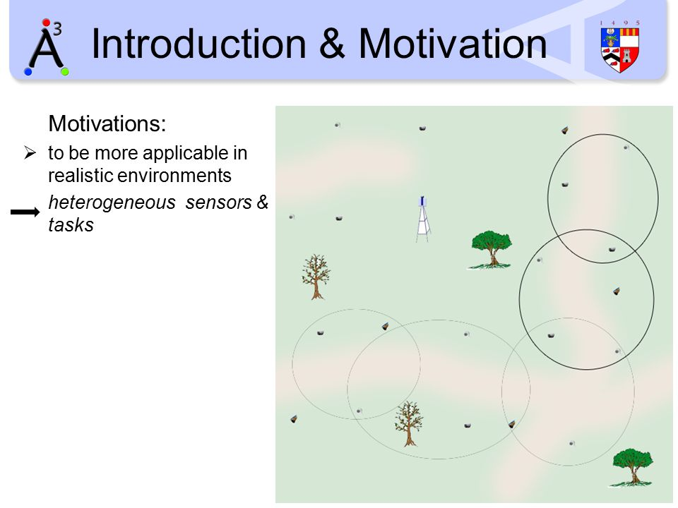 Introduction & Motivation Motivations:  to be more applicable in realistic environments heterogeneous sensors & tasks