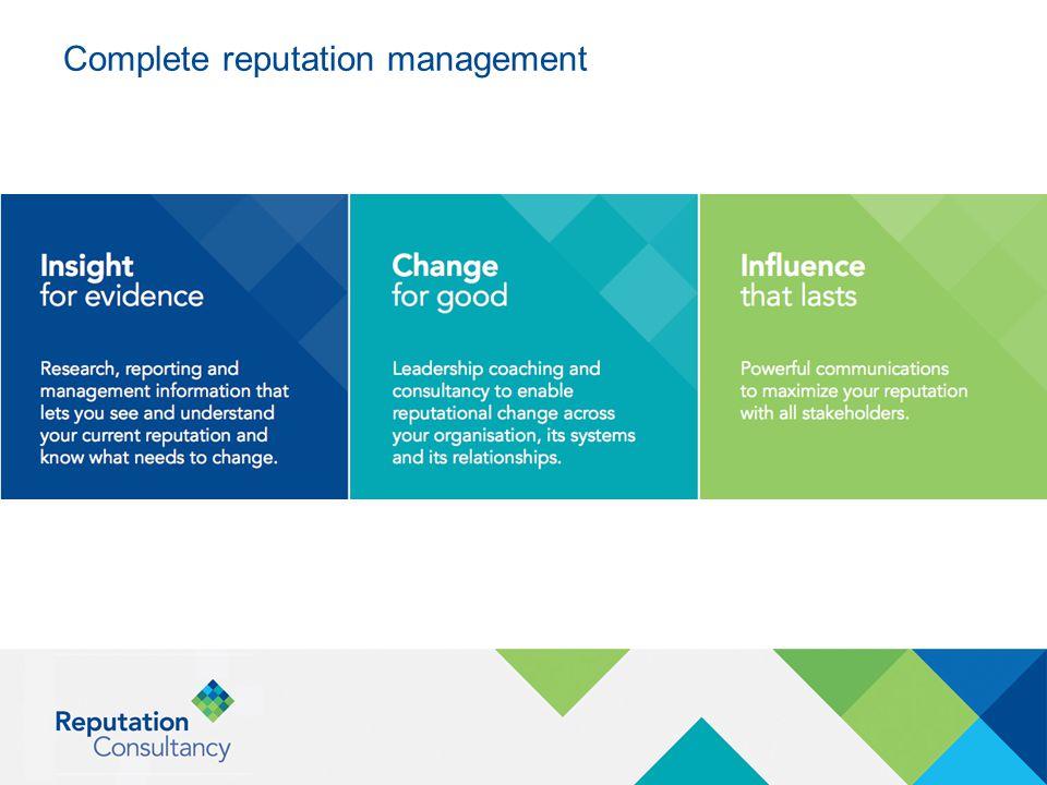 Complete reputation management