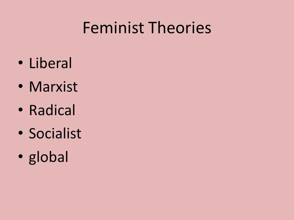 Feminist Theories Liberal Marxist Radical Socialist global