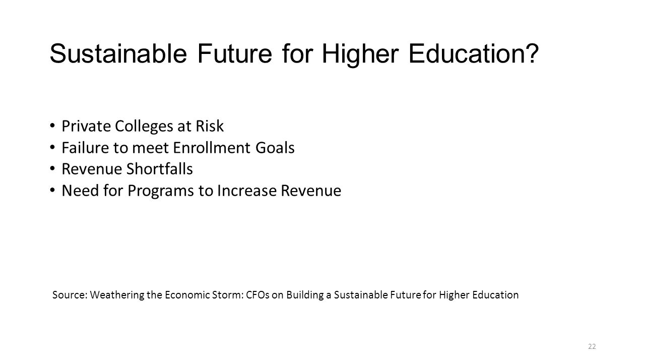 Sustainable Future for Higher Education.