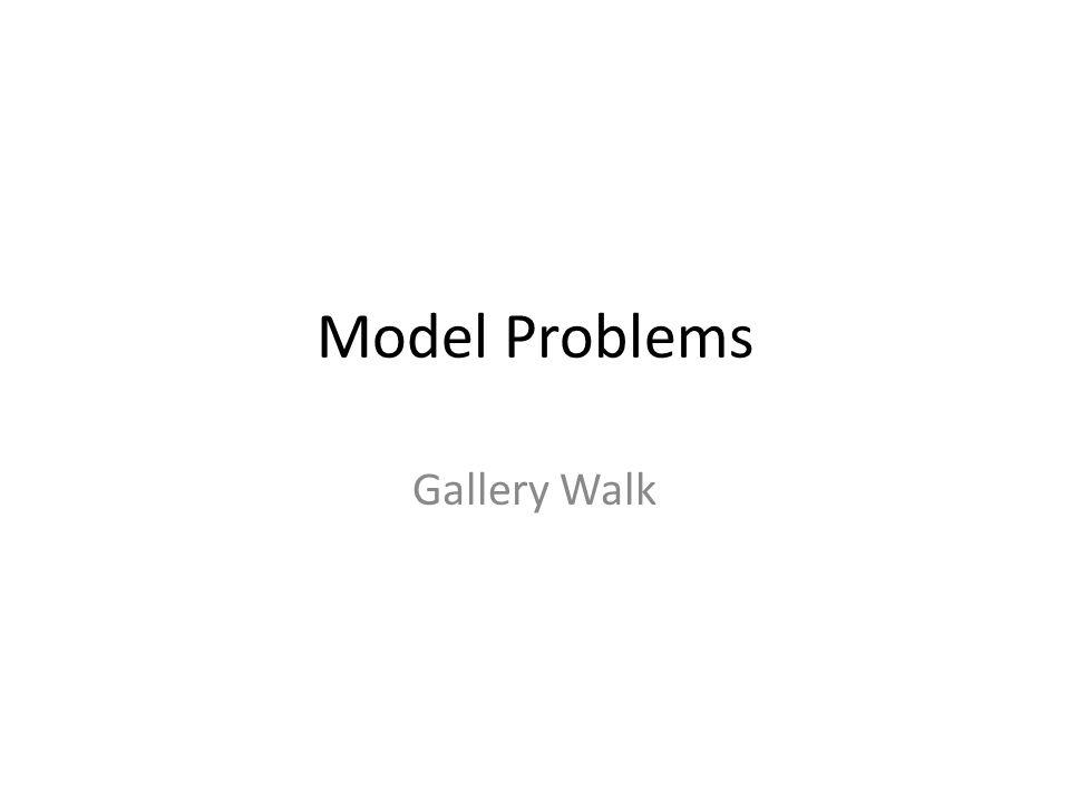Model Problems Gallery Walk