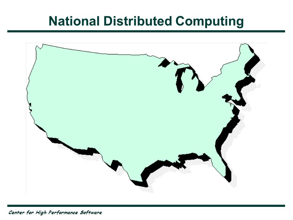 Center for High Performance Software National Distributed Computing