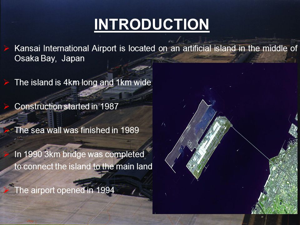 FORMATION OF THE SEA BED  The undersea floor bed of Kansai International Airport is made up of sand and clay.