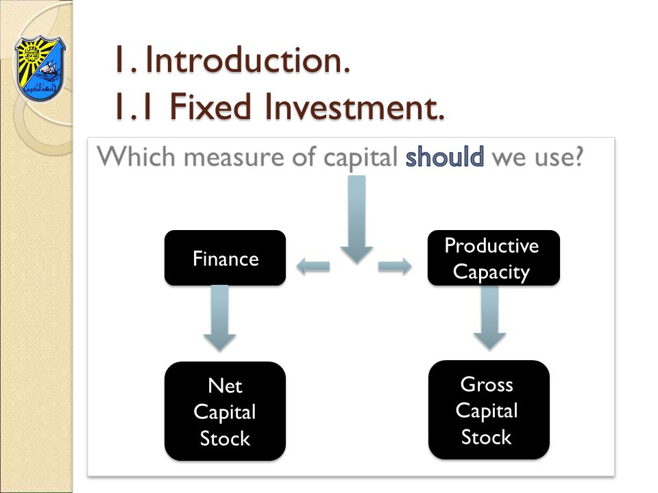 1. Introduction. 1.1 Fixed Investment.