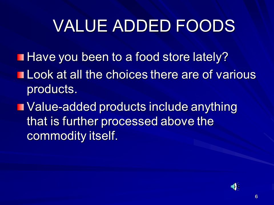 47 HOW TO DO VALUE-ADDED HOW TO DO VALUE-ADDED First, think of the area you want to work in.