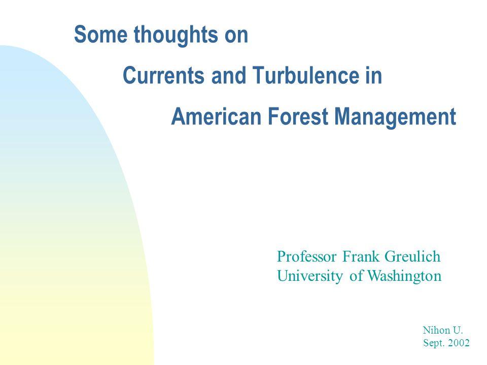 Professor Frank Greulich University of Washington Nihon U.