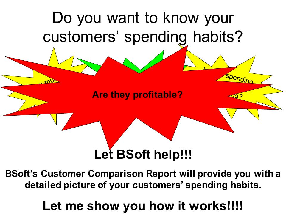 Do you want to know your customers' spending habits.