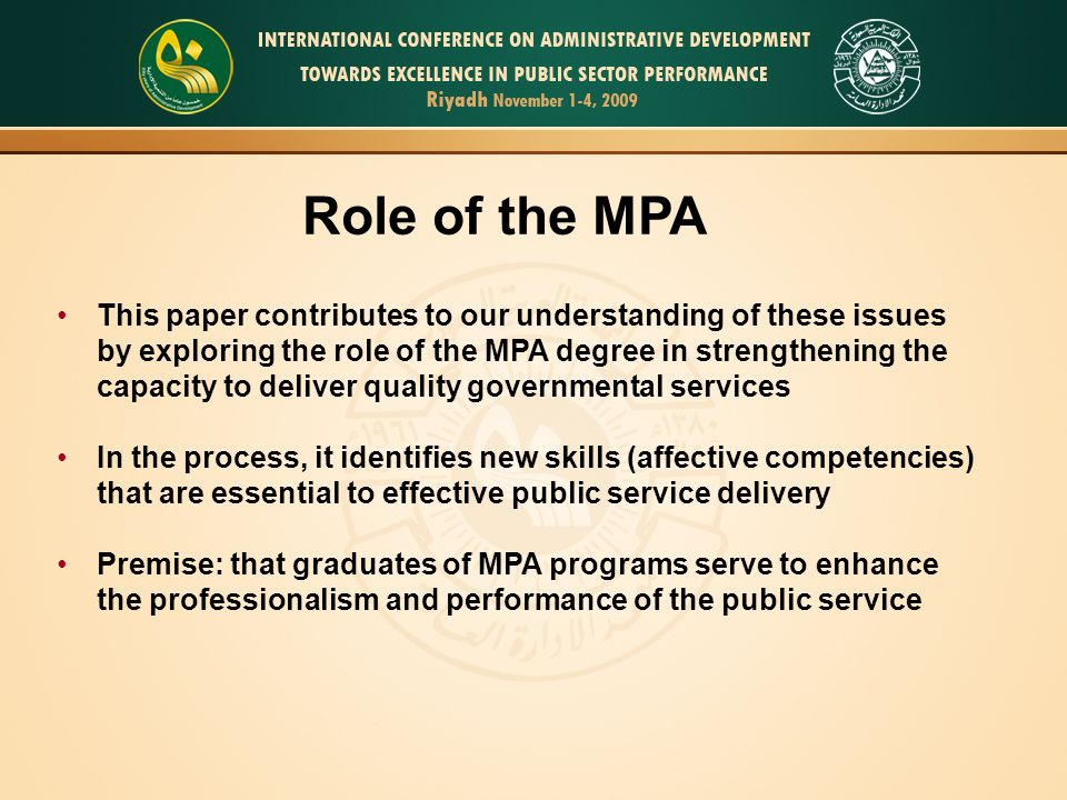 How the MPA degree in the U.S.