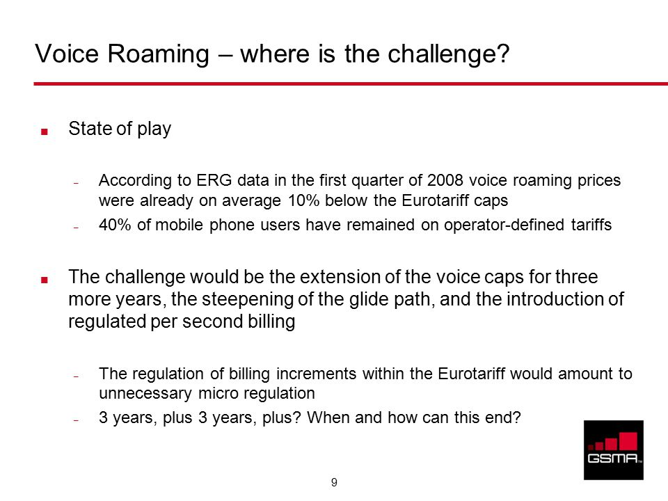 9 Voice Roaming – where is the challenge.