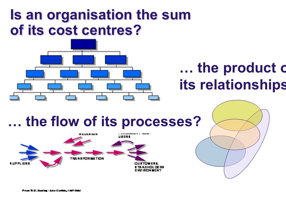 © The Deming Forum 2000 - 2009 … the flow of its processes.