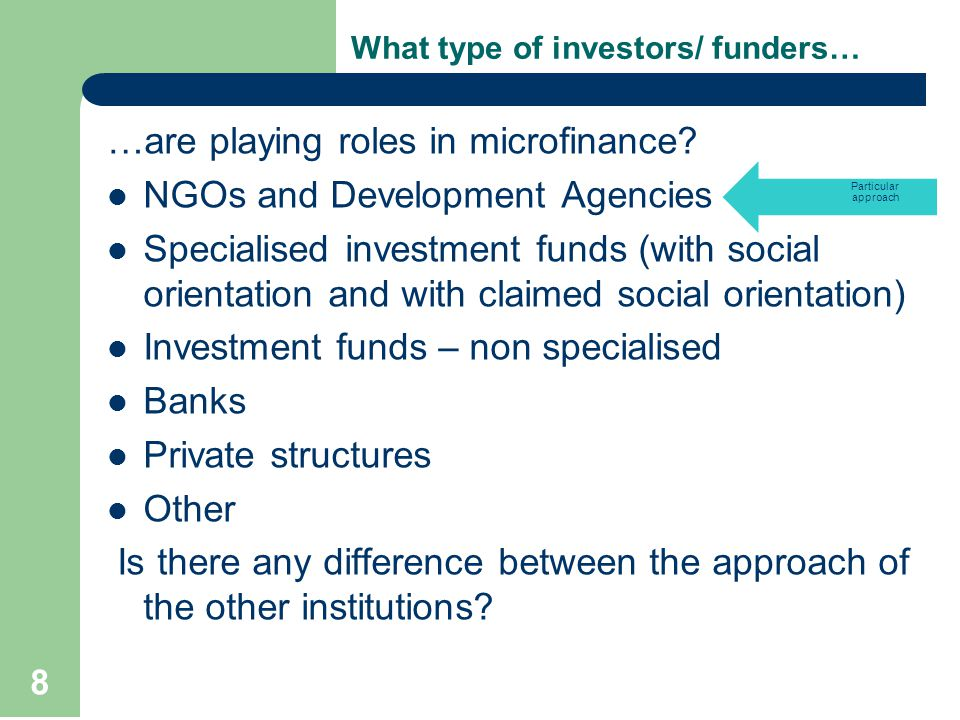 What investors are looking for.