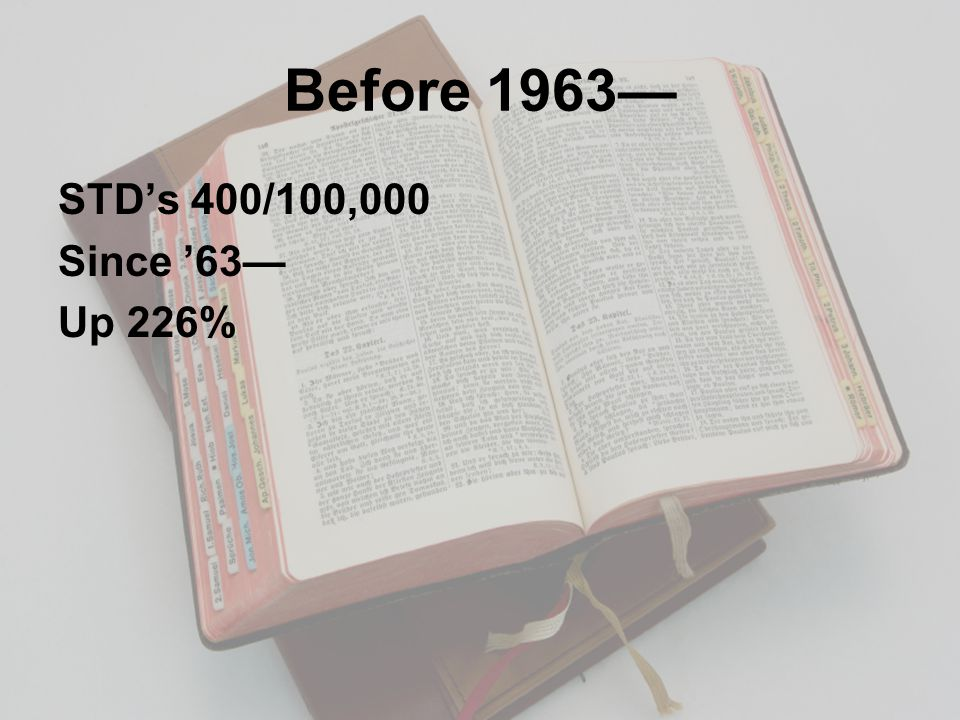 Before 1963— STD's 400/100,000 Since '63— Up 226%