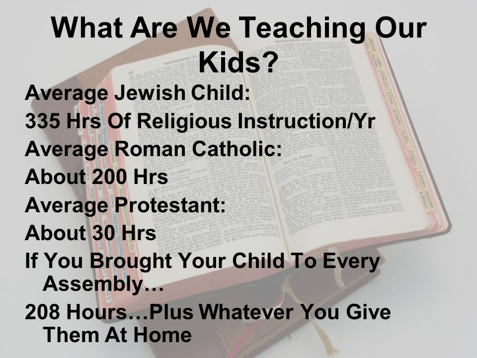 What Are We Teaching Our Kids.