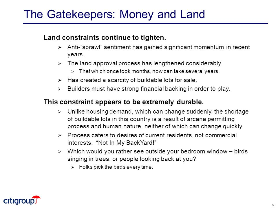 7 Supply Constraints Benefit Public Builders n As supply constraints emerged in the 1990s, so too did competitive advantages for some builders over others.