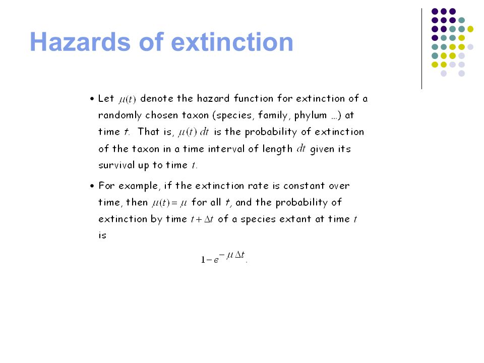 Hazards of extinction