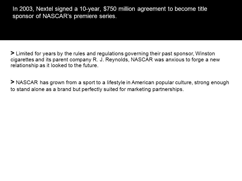 Nextel and NASCAR