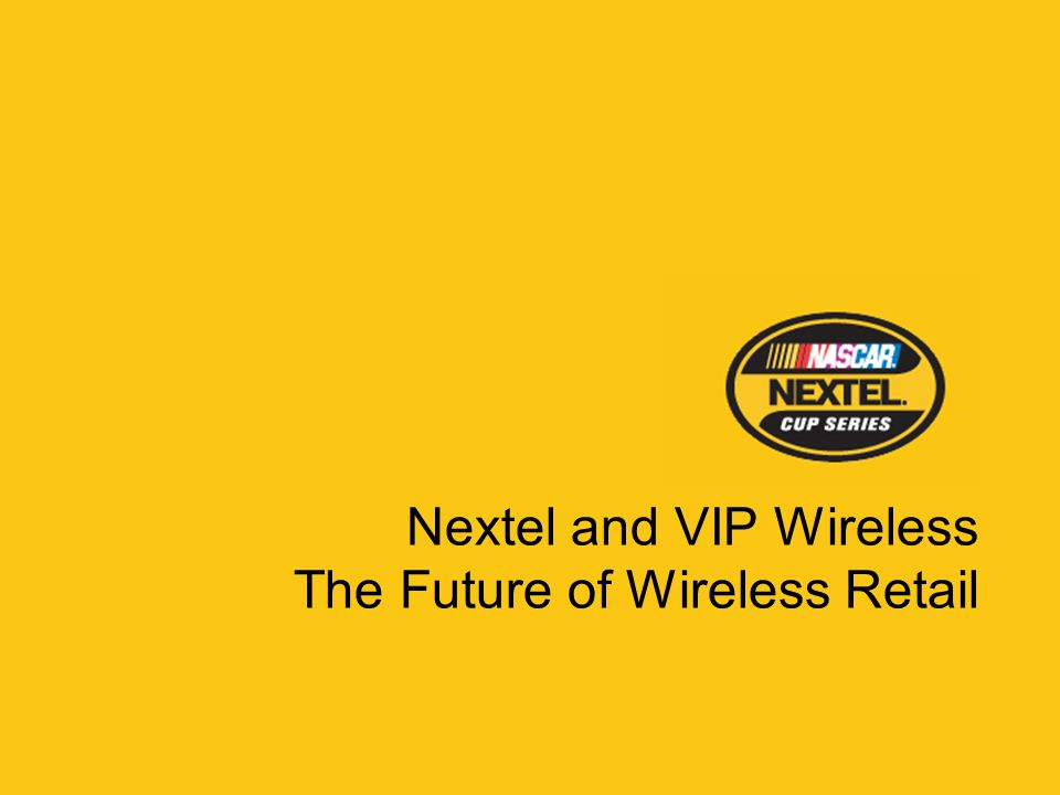 In 2003, Nextel signed a 10-year, $750 million agreement to become title sponsor of NASCAR's premiere series.