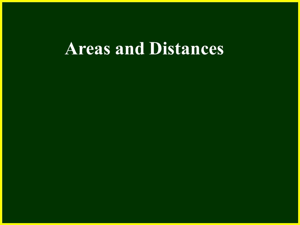 CHAPTER 2 2.4 Continuity Areas and Distances