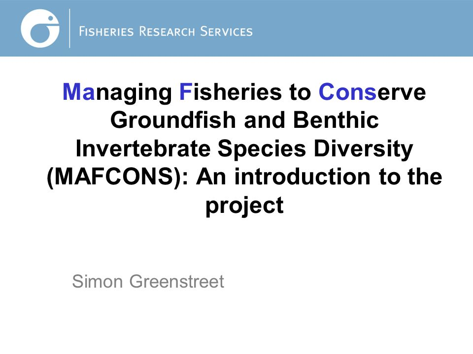 Does Fishing affect Fish Species Diversity these changes in groundfish assemblage structure have been associated with marked changes in species composition.