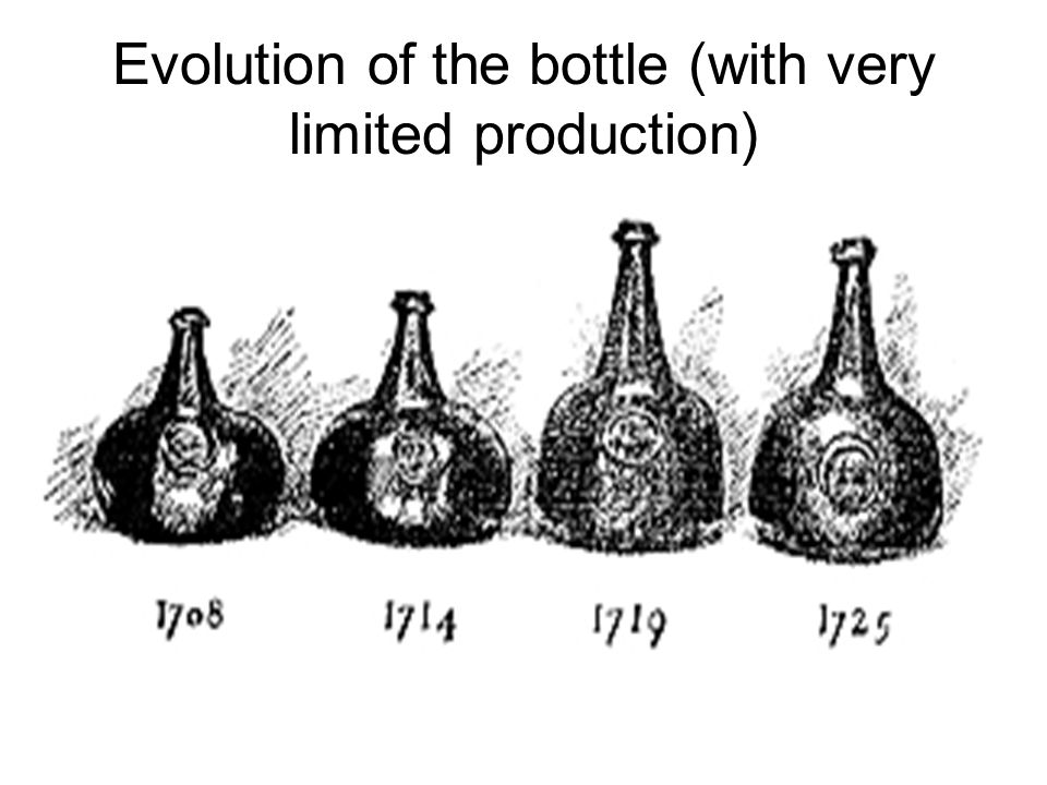 Evolution of the bottle (with very limited production)