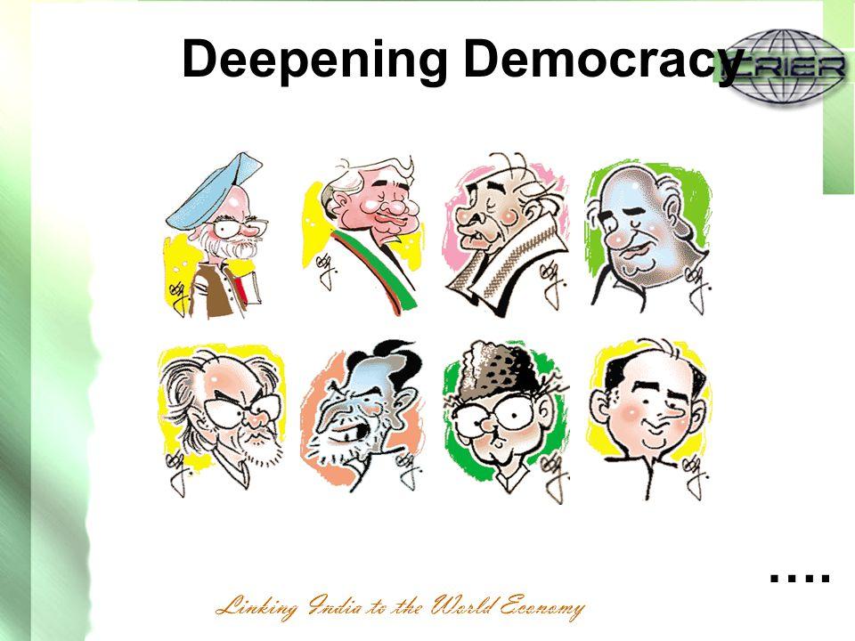 Deepening Democracy ….